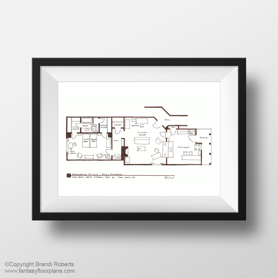 Fantasy Floorplan™ Original Hand-Drawn Sketch for I Love Lucy First ...