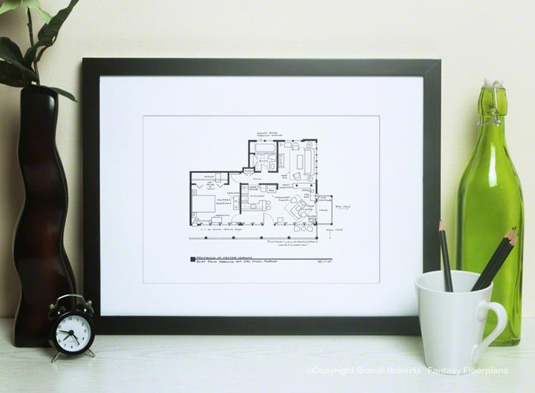 Buy A Poster Of Dexter S Floor Plan 8240 Palm Terrace