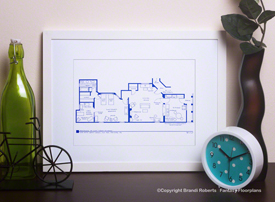 I Love Lucy Apartment Floor Plan: 2nd Apt. image