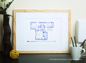 The Brady Bunch House Floor Plan: 2nd Floor image
