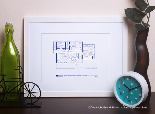 The Andy Griffith Show Floor Plan: Andy's House: 2nd Floor image