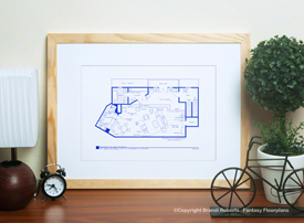 The Mary Tyler Moore Show Apartment Floor Plan image