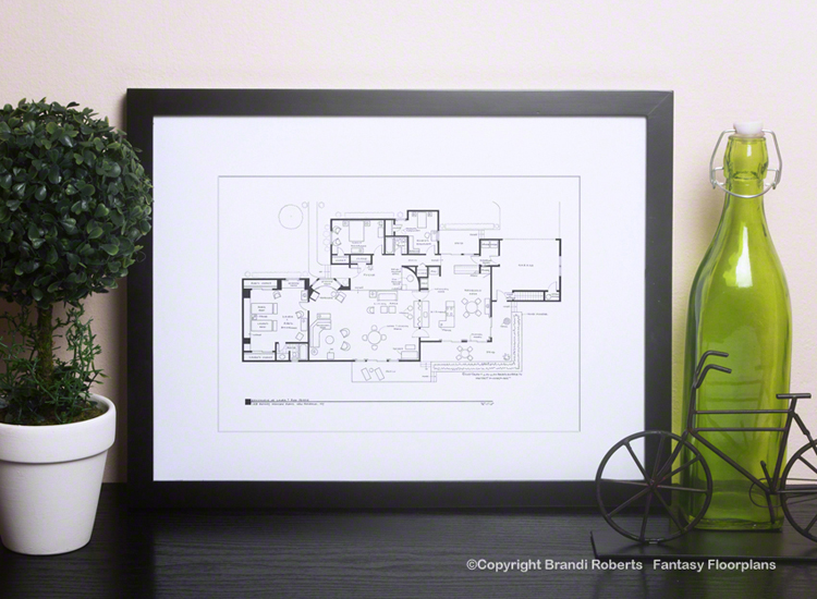 Buy A Poster Of The Dick Van Dyke Show House Floor Plan