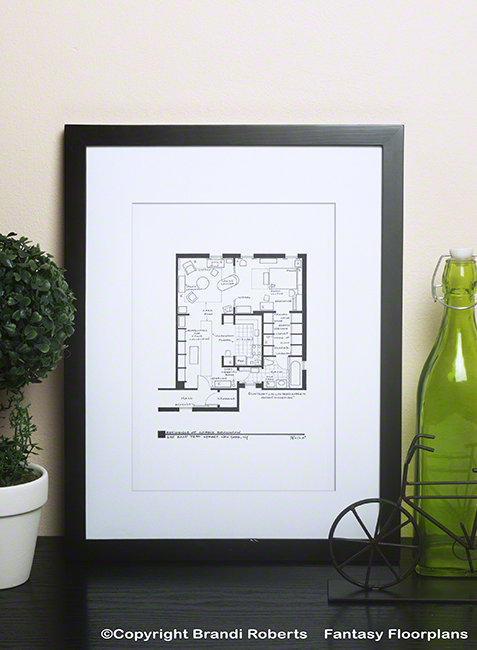 Fantasy Floorplan for Sex and the City/Residence of Carrie Bradshaw.