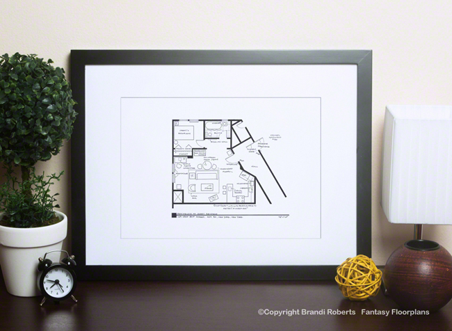 fantasy floorplan for sitcom apartment of jerry seinfeld famous television show home floor plans hiconsumption