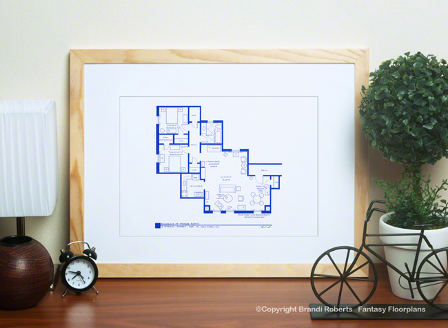 Phoebe Buffay apartment floor plan image