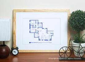 Phoebe Buffay apartment floor plan image