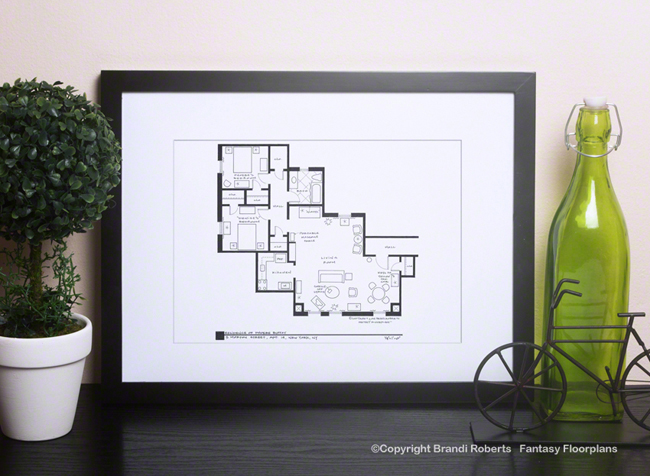 Friends Apartment Floor Plan: Phoebe