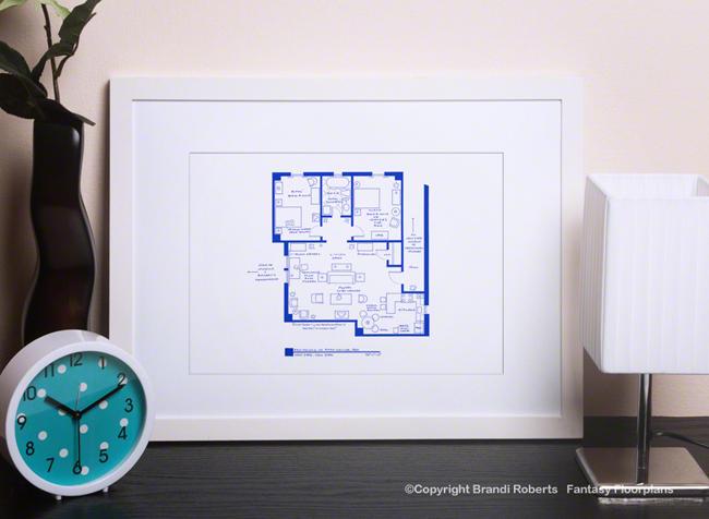Fantasy Floorplan For Friends Apartment Of Ross Geller