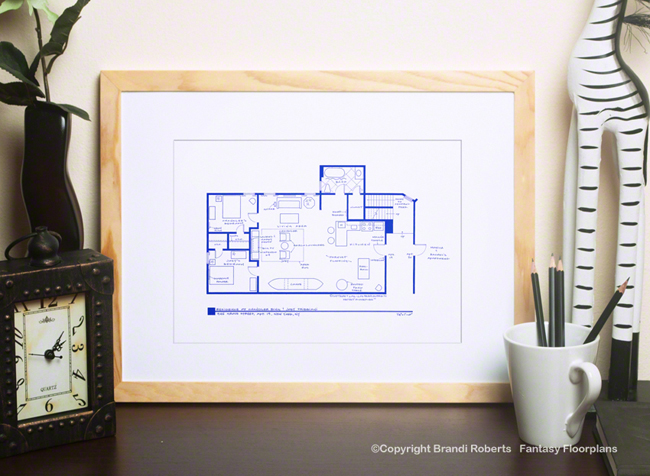 Friends Apartment Floor Plans (Set of 4)
