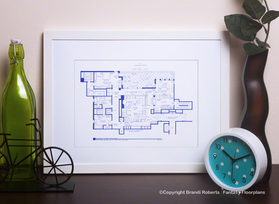 Don Draper Apartment Floor Plan (With Megan) image