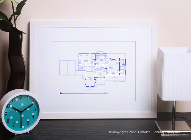 Bewitched House Floor Plan: 2nd Floor