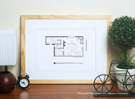 Robin Scherbatsky apartment floor plan image