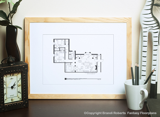 buy a fictional floor plan for marshall eriksen and lily
