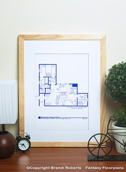 Seinfeld Apartment Floor Plans (Set of 4) image