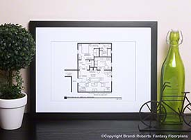 Seinfeld Floor Plan: George's Apartment image