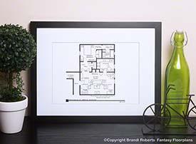 Seinfeld Floor Plan: George's Apartment image