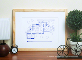 I Love Lucy Country House Floor Plan (1st Floor)