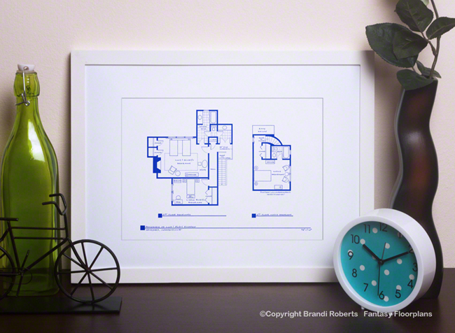 I Love Lucy Country House Floor Plan: 2nd Floor image