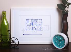 Leave It to Beaver: Cleaver House Floor Plan (2nd Floor) image