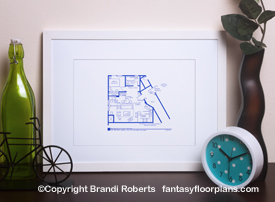 TV Show floor plan for Jerry Seinfeld apartment
