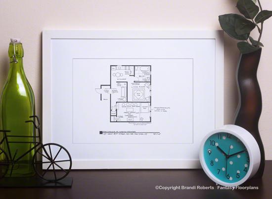 Seinfeld Apartment Floor Plans and Monk's Café (Set of 5) image