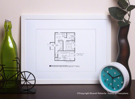 Seinfeld Apartment Floor Plans and Monk's Café (Set of 5) image