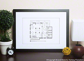 Rick Castle Apartment floor plan