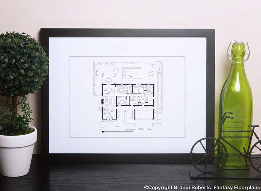 Breaking Bad home floor plan