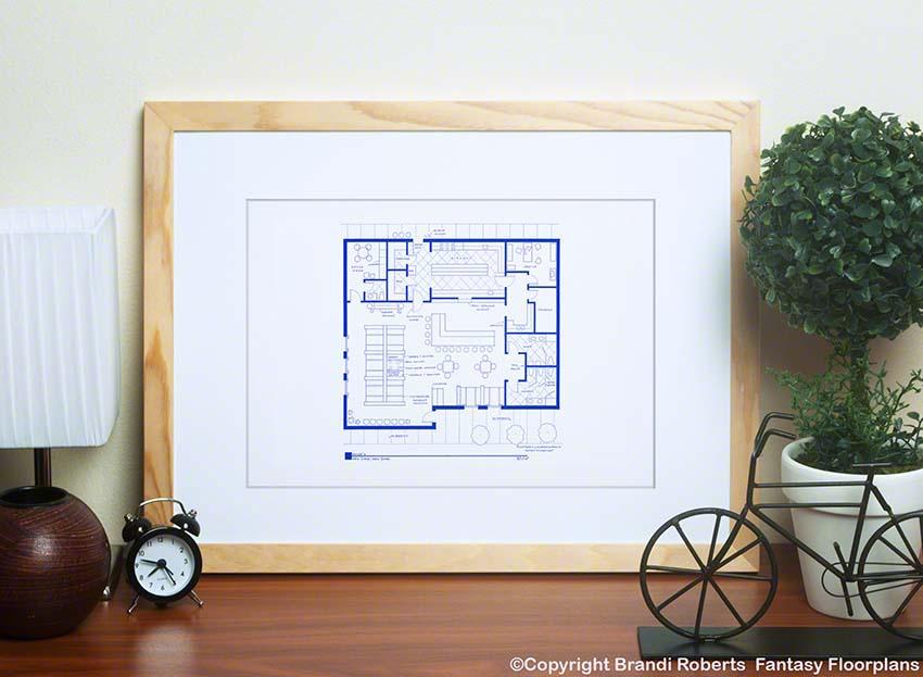 Monk's Diner Floor plan