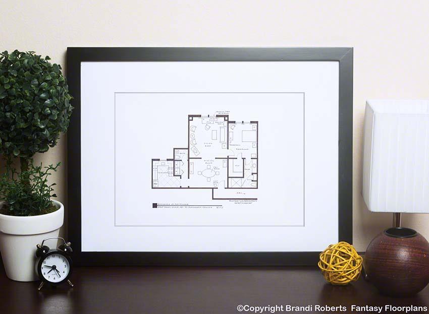 Agent Fox Mulder's apartment floor plan