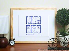Twin Peaks Agent Dale Cooper hotel floor plan