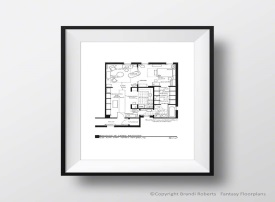 Sex and the City Apartment Floor Plans (Set of 5) image