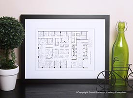 Mad Men Office Floor Plans (Set of 3) image
