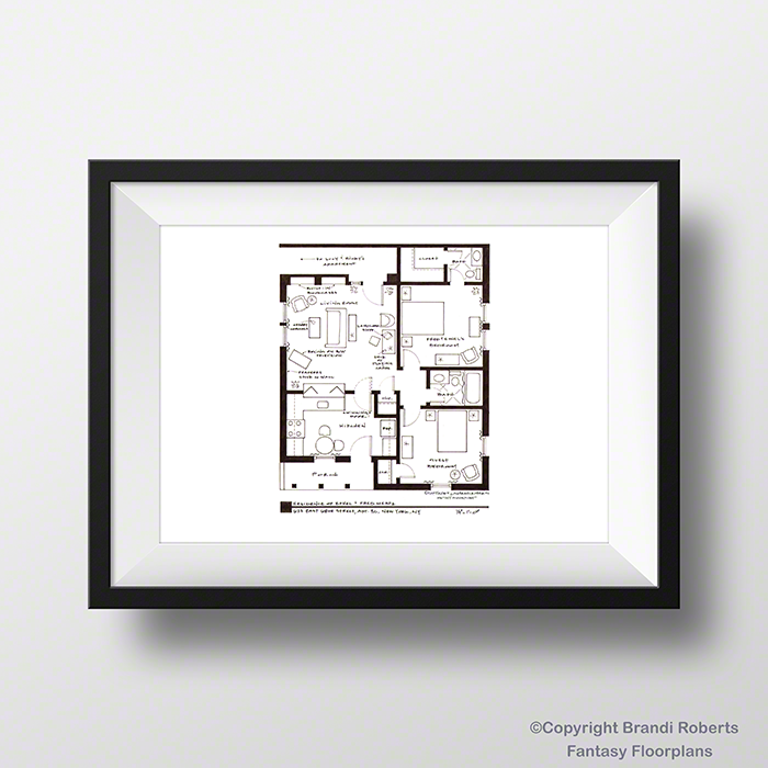 I Love Lucy Apartment Floor Plan: Fred and Ethel image