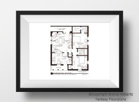 Fred and Ethel Mertz apartment floor plan