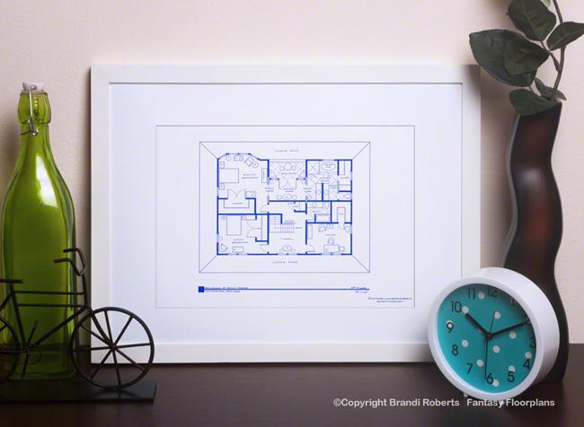 Revenge House Floor Plan: Emily Thorne (2nd Floor)
