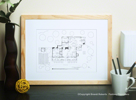 The Waltons House Floor Plan (1st Floor)