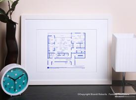 Don Draper Apartment Floor Plan (Bachelor) image
