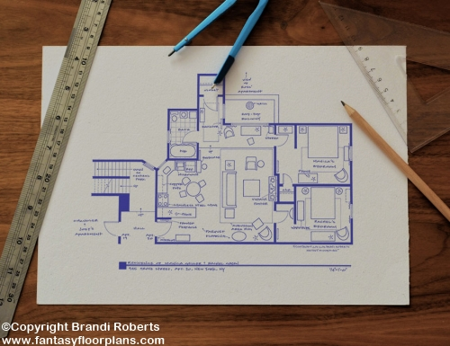 Friends apartment layout image