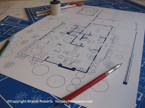 Blueprint for Major Tony Nelson's home