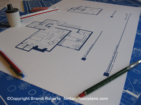 I Love Lucy country house floor plan image