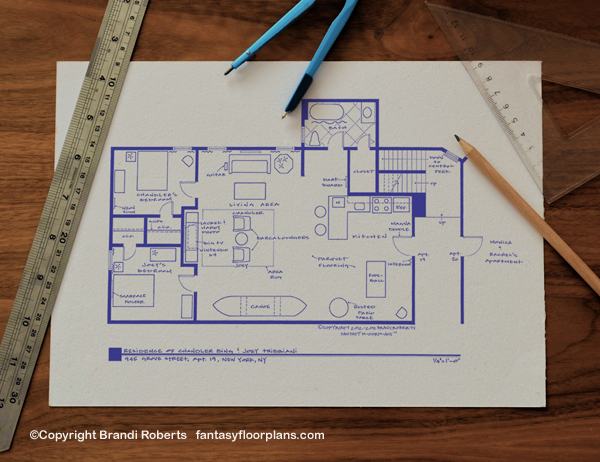Friends Joey and Chandler apartment floor plan