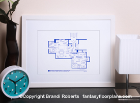 Laverne and Shirley apartment floor plan image