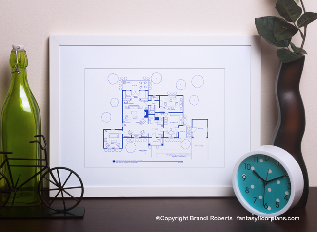 Buy A Poster Of The Leave It To Beaver House Floor Plan