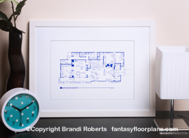 Brady Bunch house floor plan image