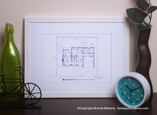 Simpsons house layout image