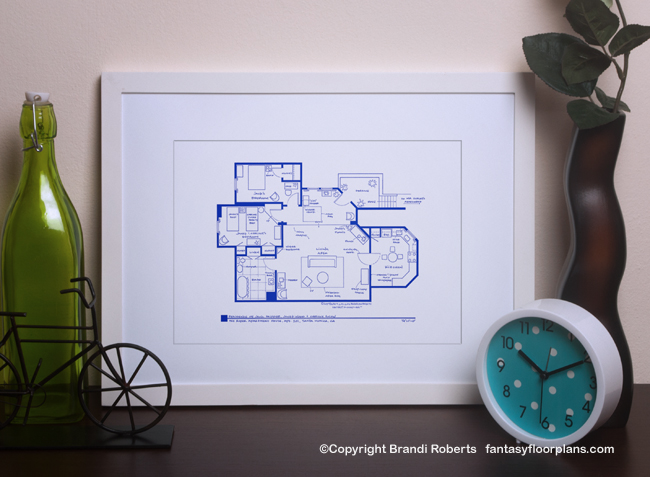 TV Show Floor plan for Three's Company apartment