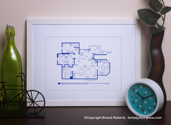 TV Show Floor plan for Three's Company apartment
