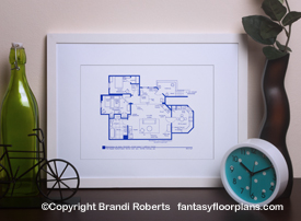 Three's Company Apartment Floor Plan image